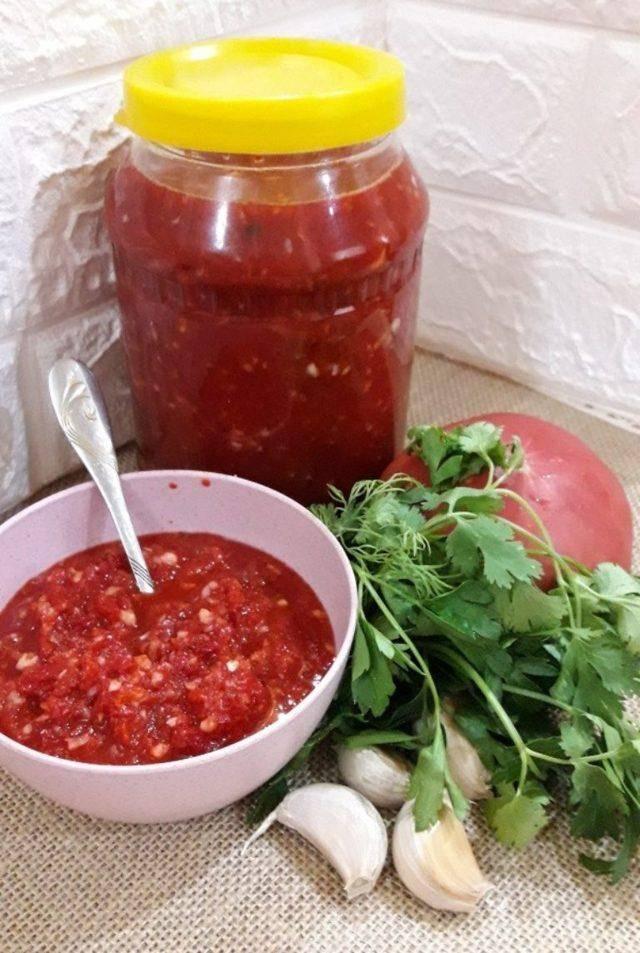 Лучшие рецепты сырой аджики с эссенцией и без, из помидор и чеснока на зиму, с варкой и без