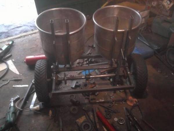 Картофелесажалки своими руками: ручная, для мотоблока и мини-трактора