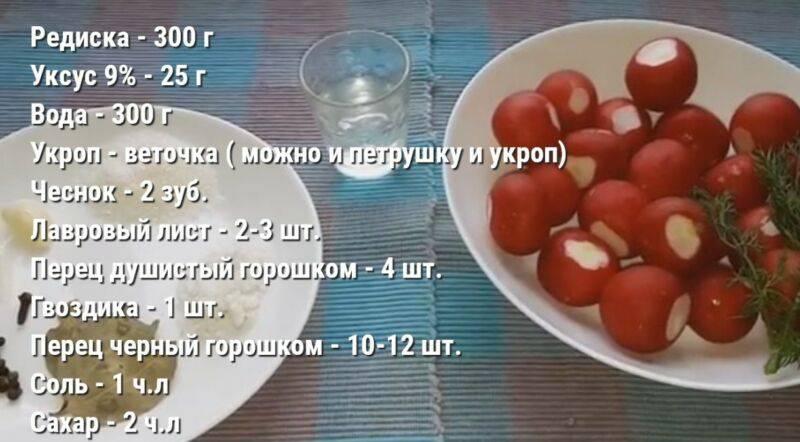 Топ-8 лучших рецептов маринованного редиса на зиму