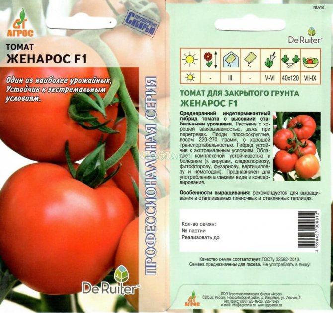 Томат женарос f1: описание, отзывы, фото, урожайность | tomatland.ru