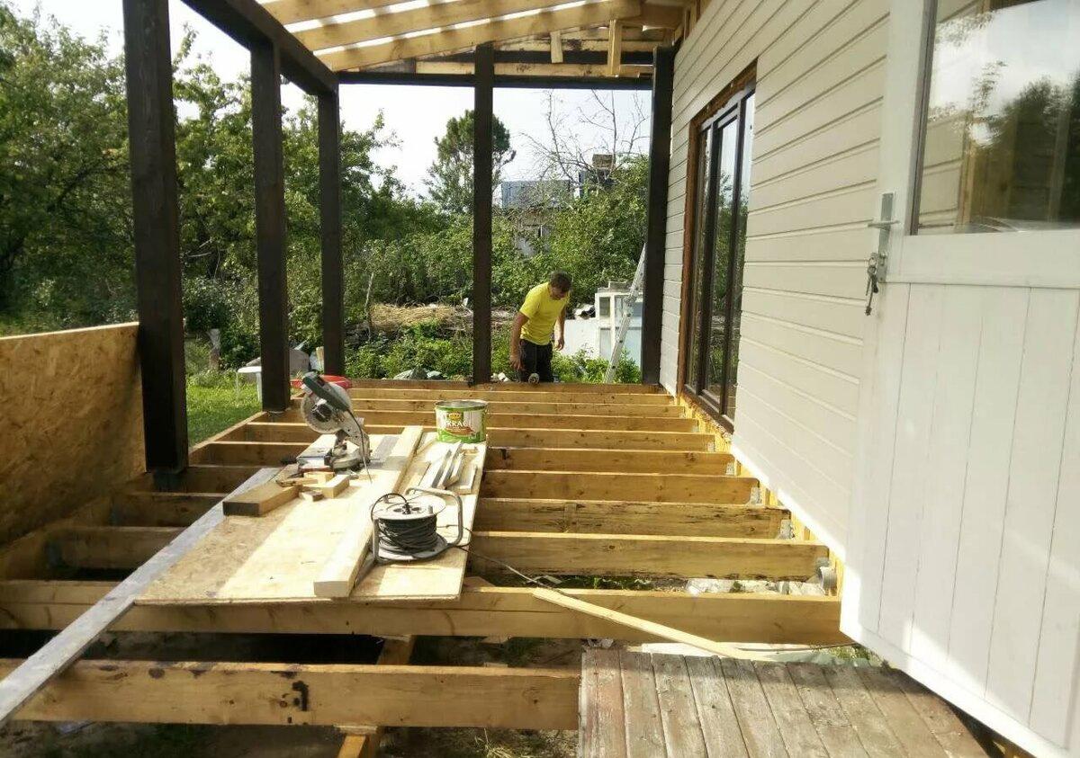 Веранда на даче своими руками: проекты, строительство, остекление
