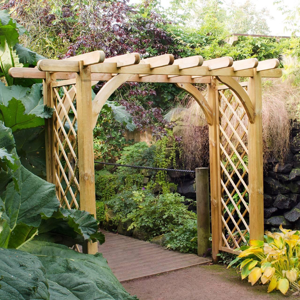 Деревянная арка под виноград своими руками