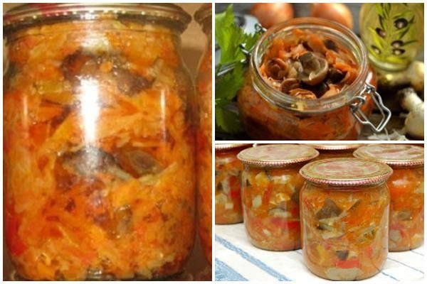 Капуста с грибами на зиму: золотые рецепты с фото