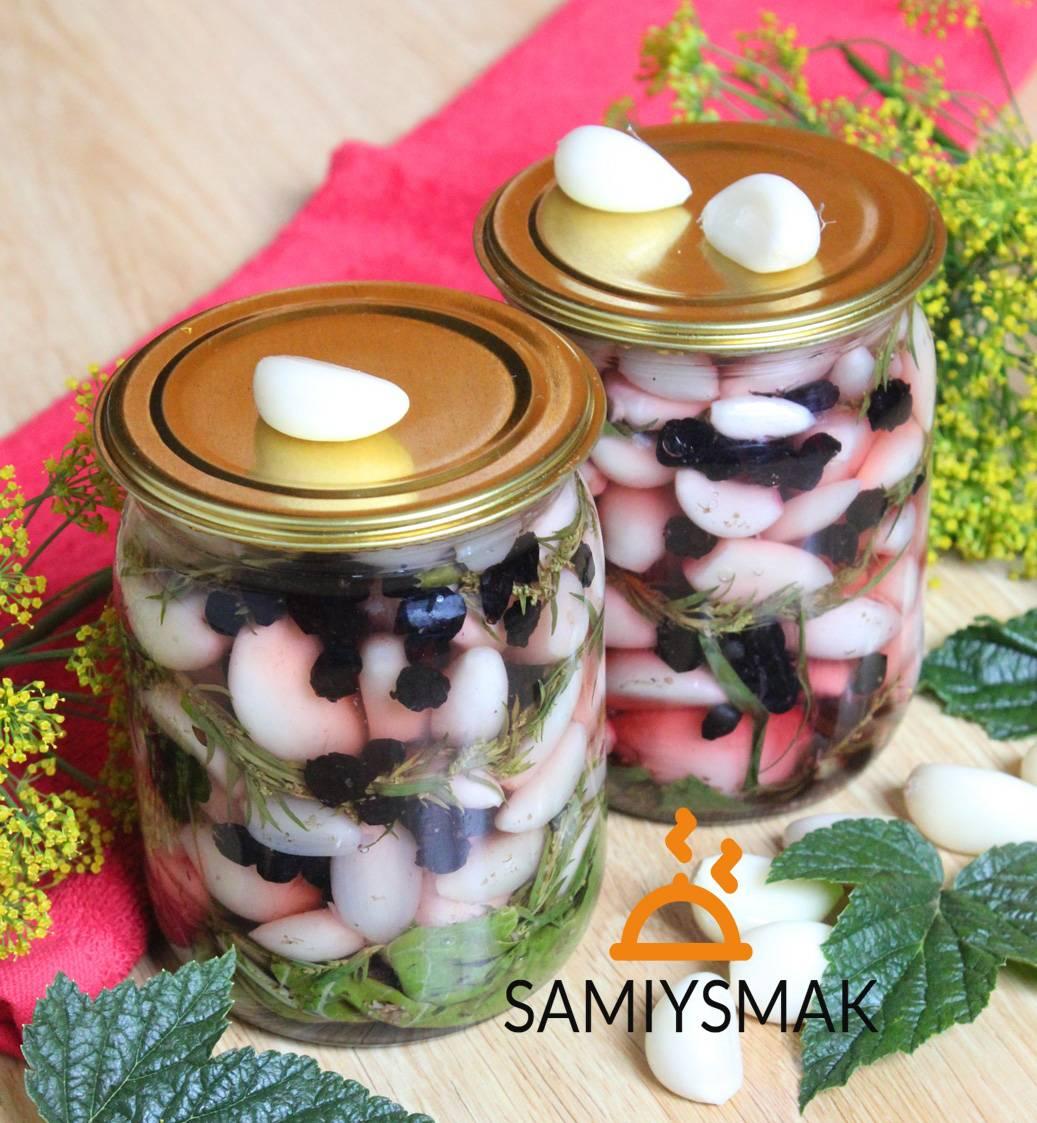 Рецепты приготовления маринованного чеснока с крыжовником на зиму