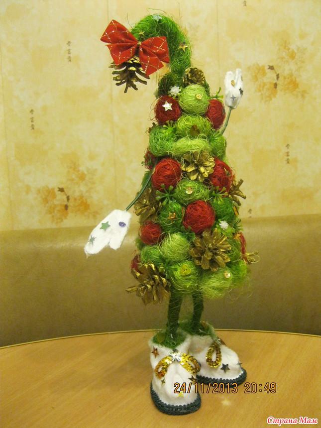 Новогодний топиарий елочка: украшаем праздник сами