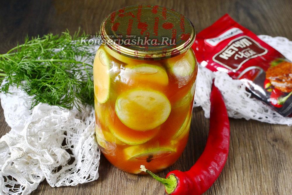 Вкуснейшие огурцы с кетчупом чили в литровых банках без стерилизации