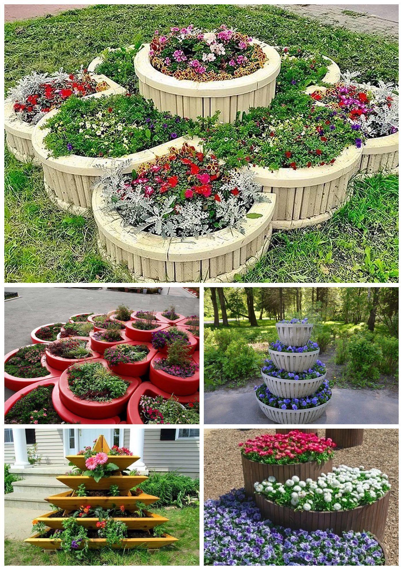 Многоярусный цветник и клумбы своими руками | мир садоводства