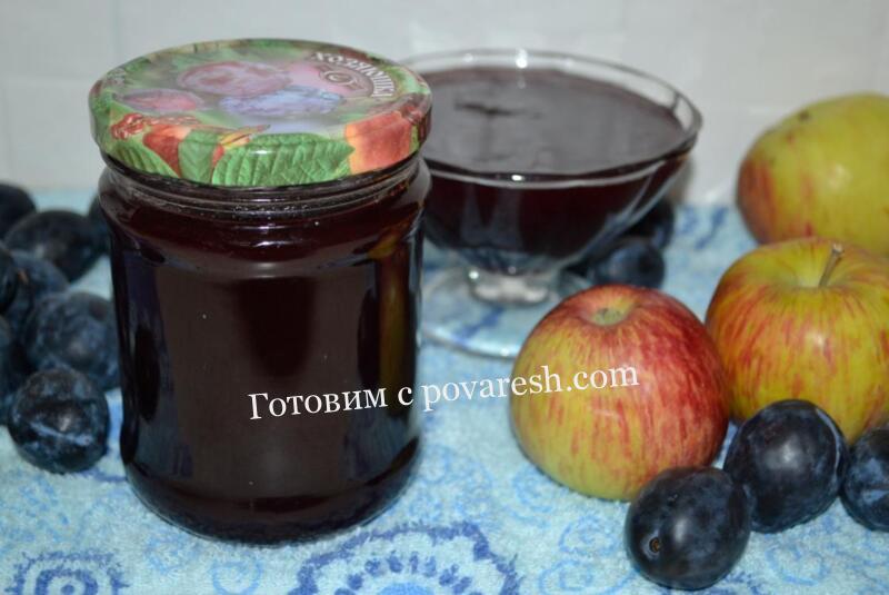 Варенье-пятиминутка из яблок и слив - 14 пошаговых фото в рецепте