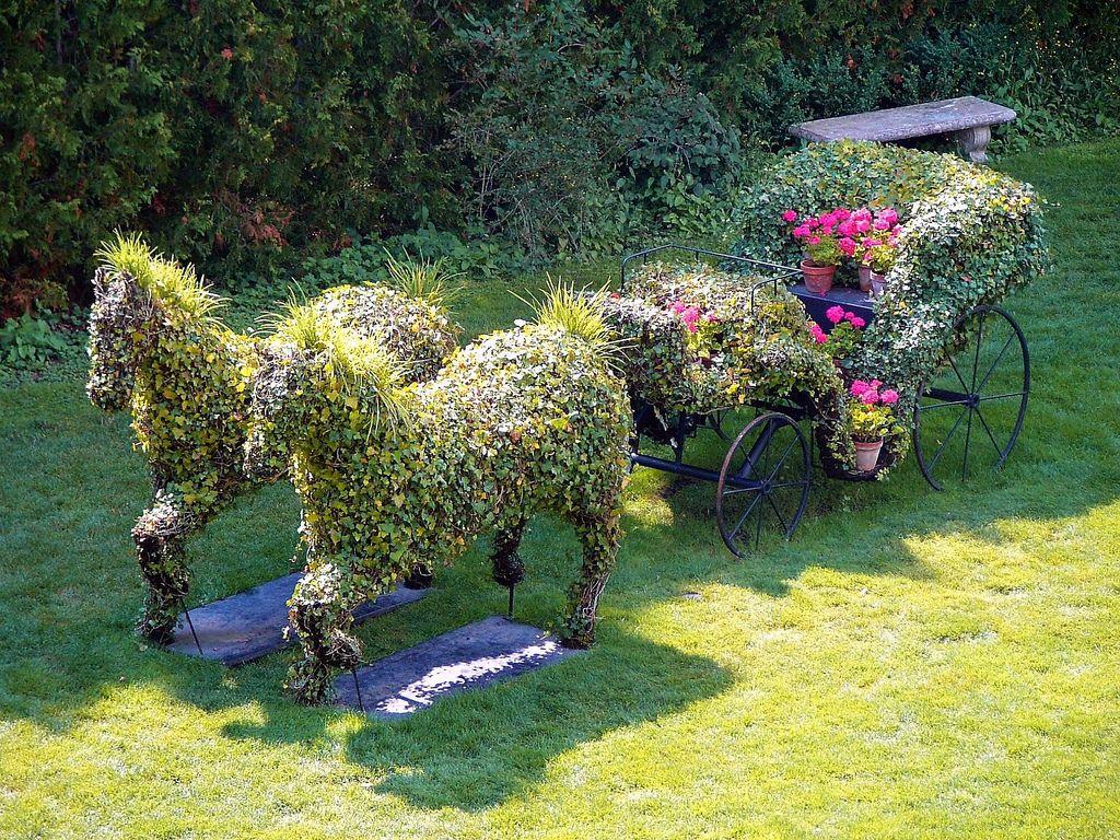 Садовые фигуры своими руками: мастер класс (125+ фото)