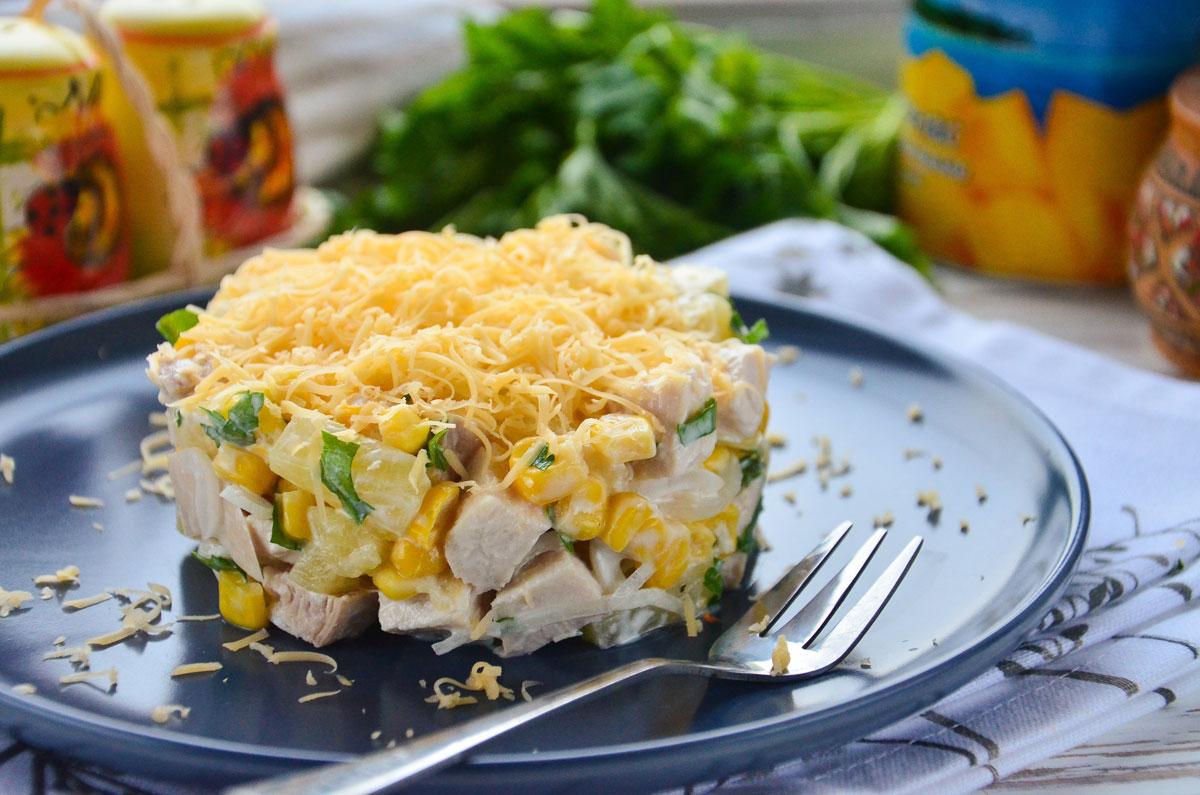 Итальянский салат с блинами и копченой курицей рецепт с фото и видео - 1000.menu