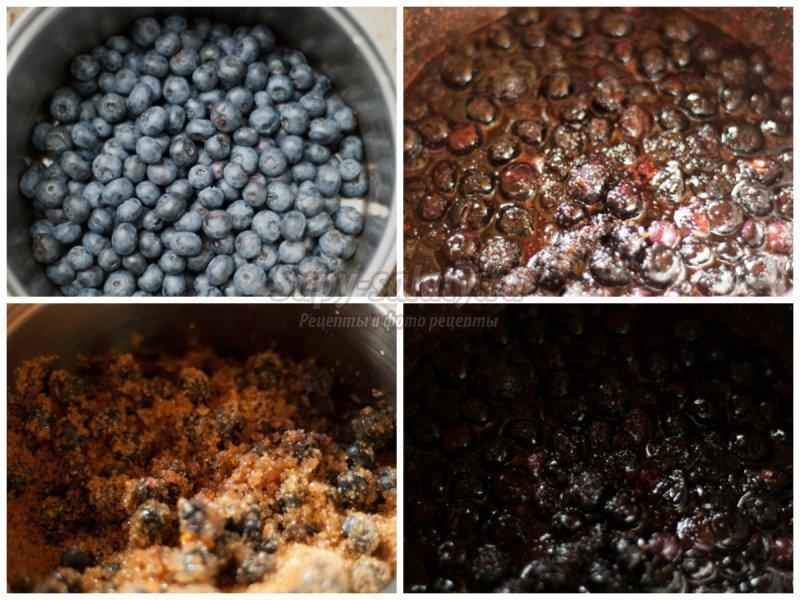 Варенье из голубики на зиму по простым рецептам с добавлением черники, малины и без варки ягод