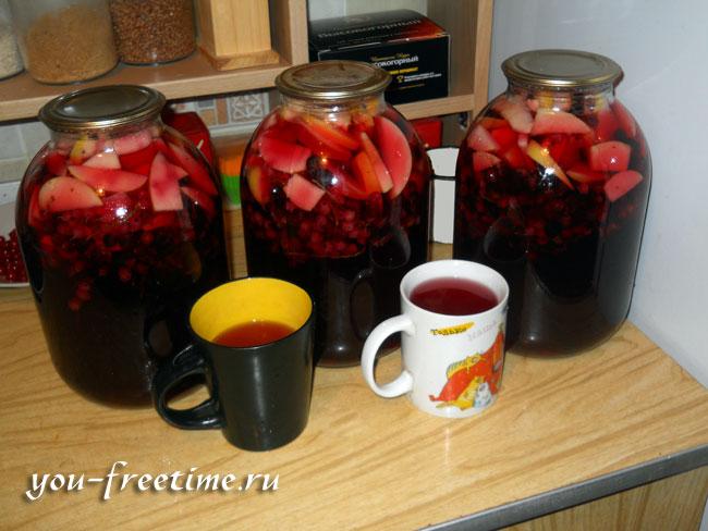 Компот из яблок и смородины на зиму: рецепты как сварить с фото и видео