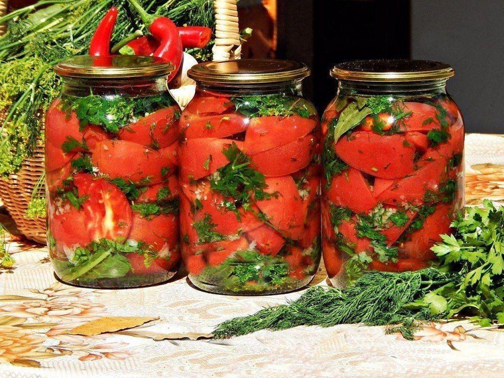 Помидоры с базиликом: рецепты на зиму