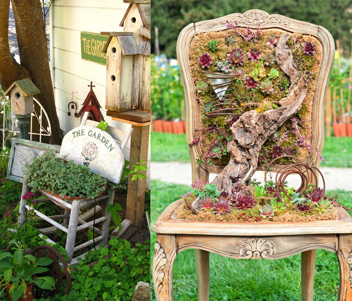 100 необычных идей: украшения и поделки для сада своими руками