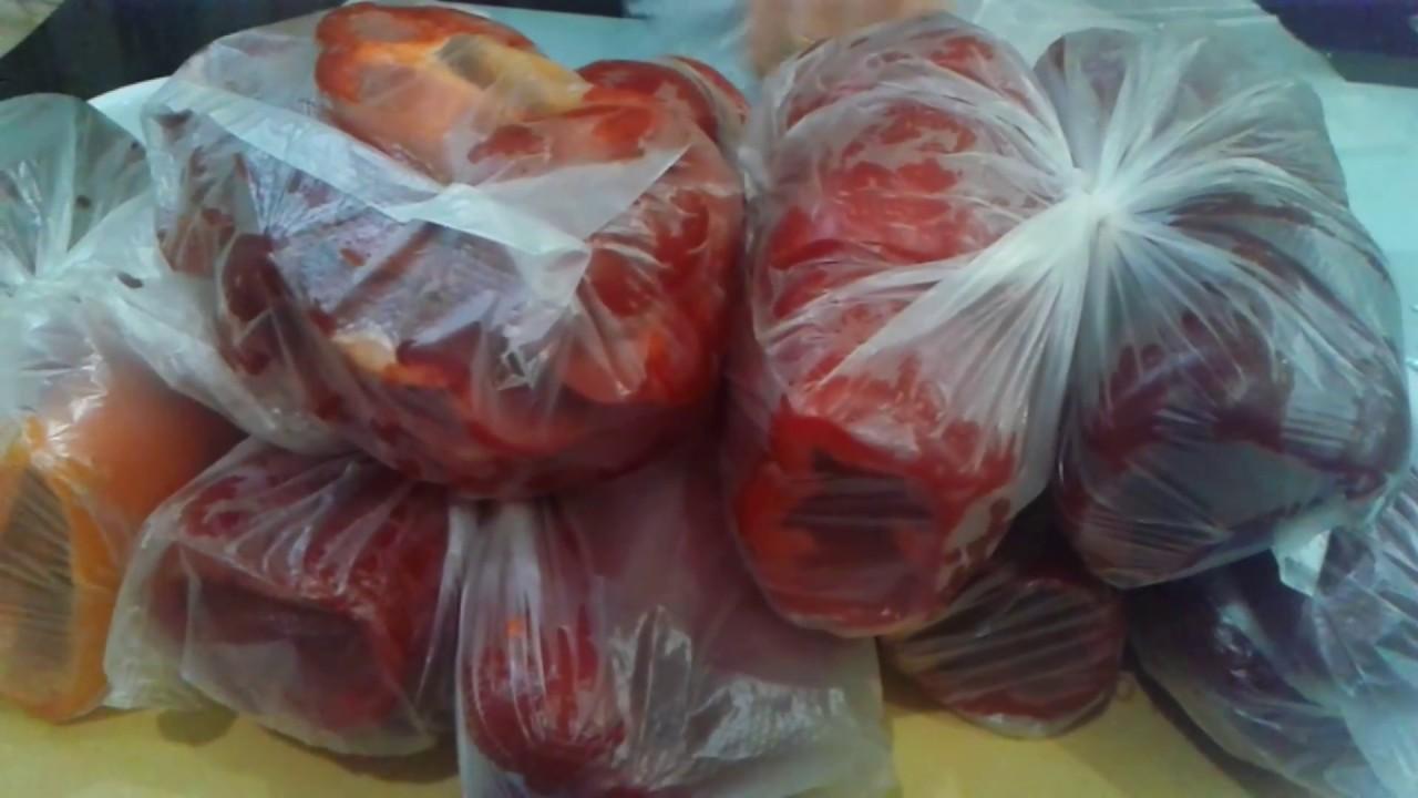 Как правильно заморозить болгарский перец на зиму
