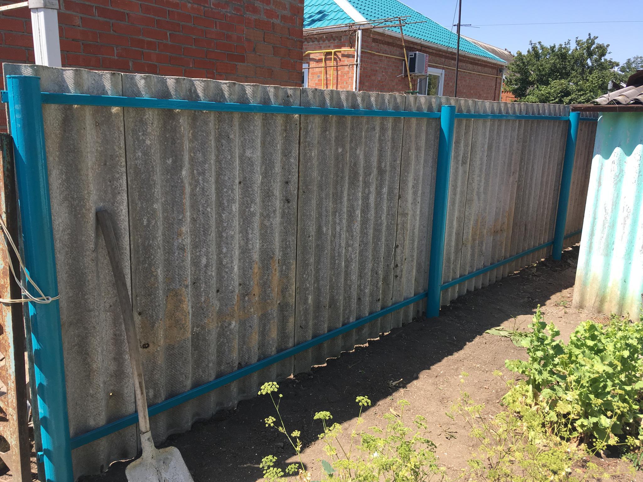 Забор из шифера своими руками - строительство и ремонт