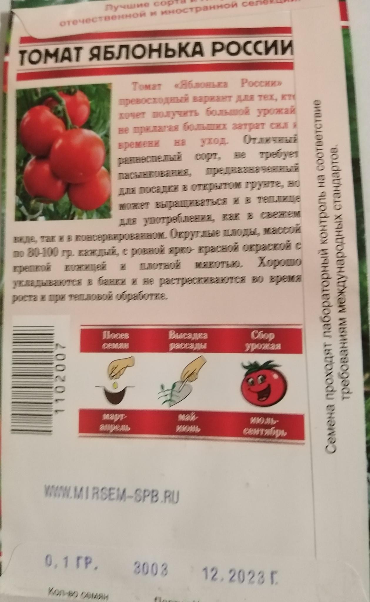 Томат яблонька россии: описание сорта, фото, отзывы, характеристика плодов, урожайность