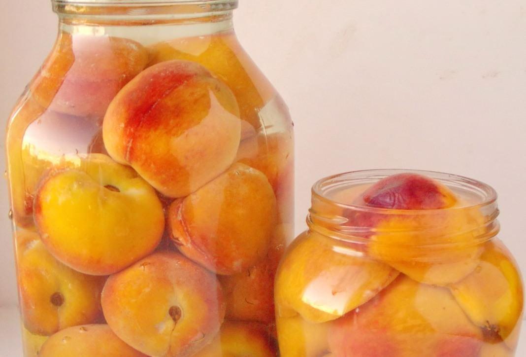 Персики консервированные половинками: рецепт без стерилизации, целиком с косточкой в домашних условиях на зиму