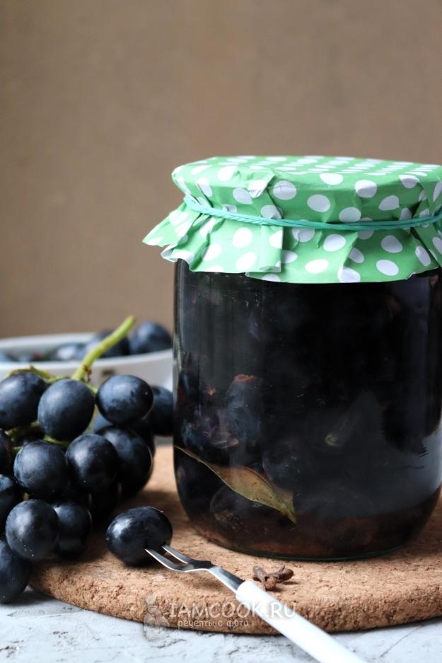Маринованный виноград на зиму - 7 рецептов с корицей, без стерилизации