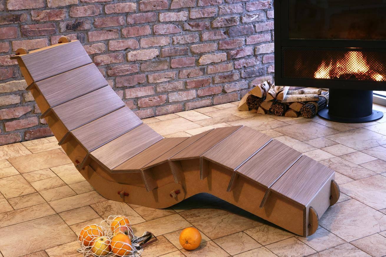 Как сделать картонную мебель для дачи