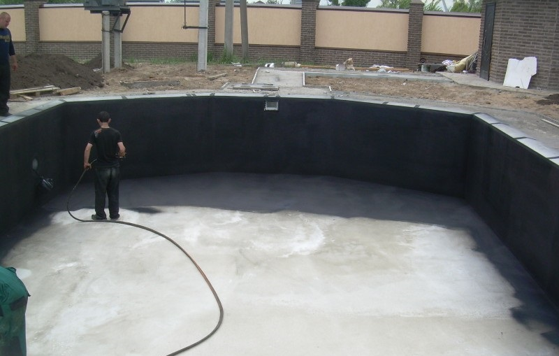 Как сделать гидроизоляцию бассейна изнутри своими руками жидкой резиной: технология- обзор +видео