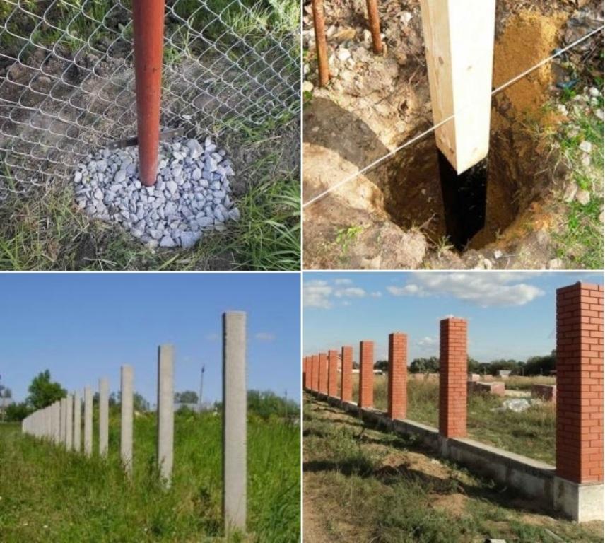 Можно ли деревянные столбы заливать бетоном?