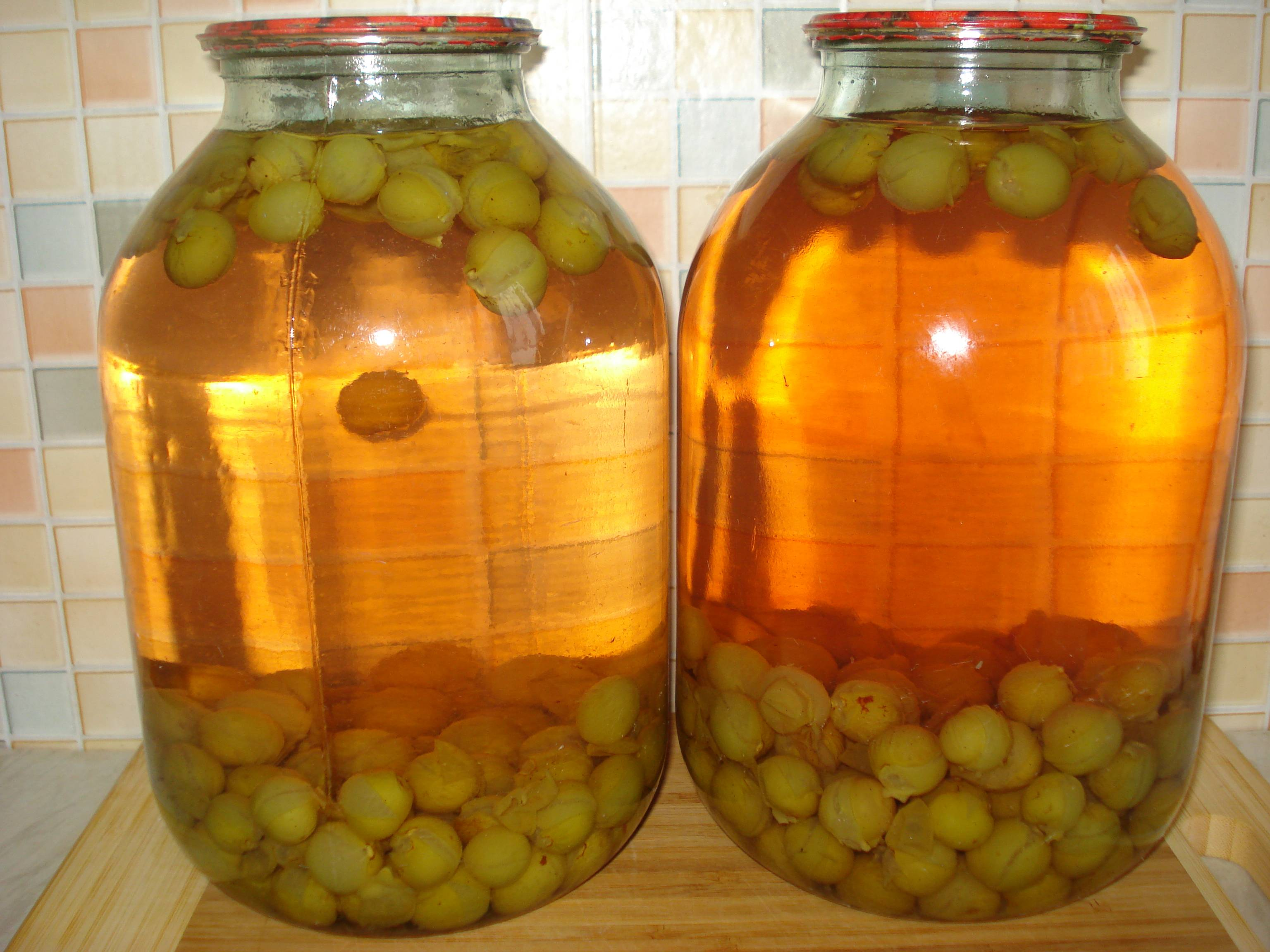 Компот из винограда на зиму без стерилизации простой рецепт с яблок, слив и груш