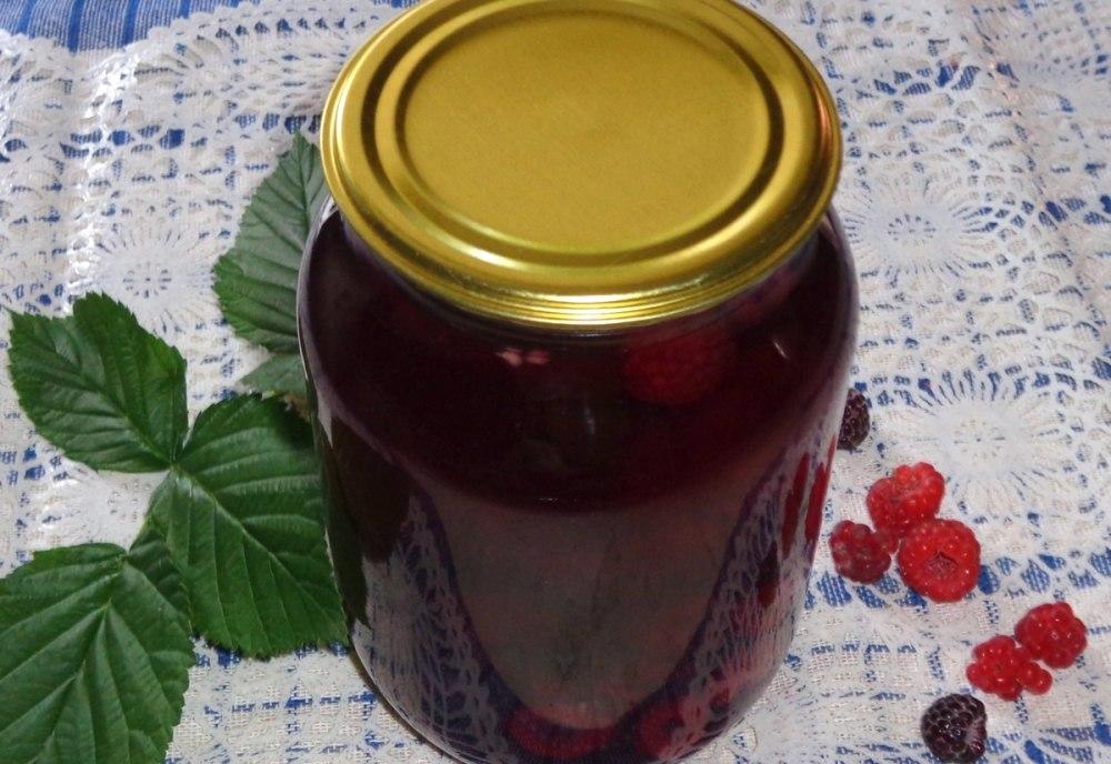 Компот из ежевики на зиму: 6 рецептов приготовления на 3 литровую банку с фото и видео