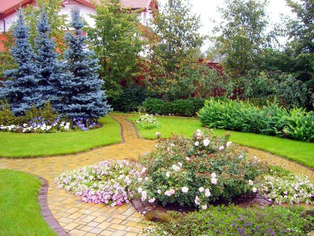 Сад в пейзажном стиле на supersadovnik.ru