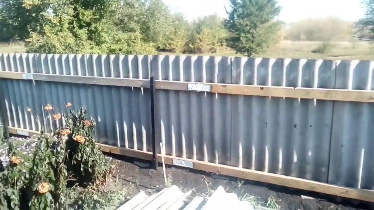 Как сделать забор из плоского или волнового шифера своими руками: фото и видео