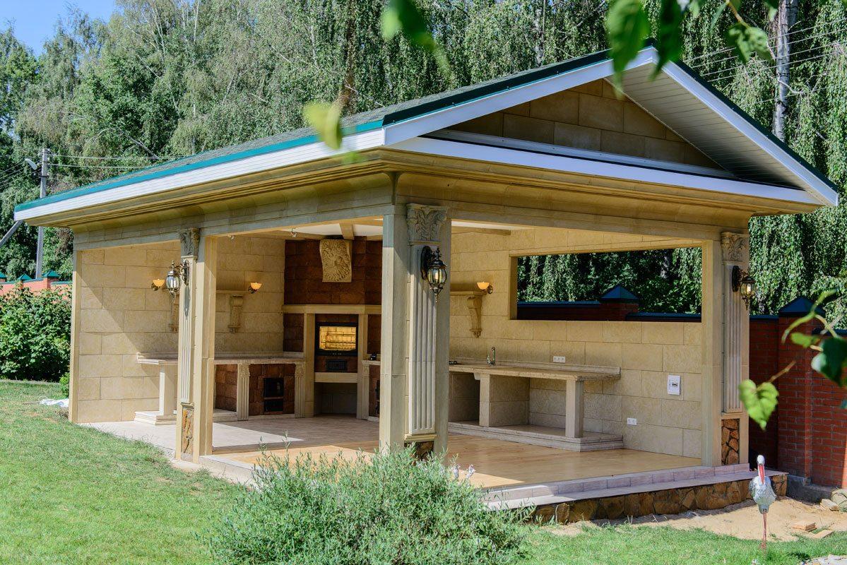 Летняя кухня на даче: лучший проект этого сезона