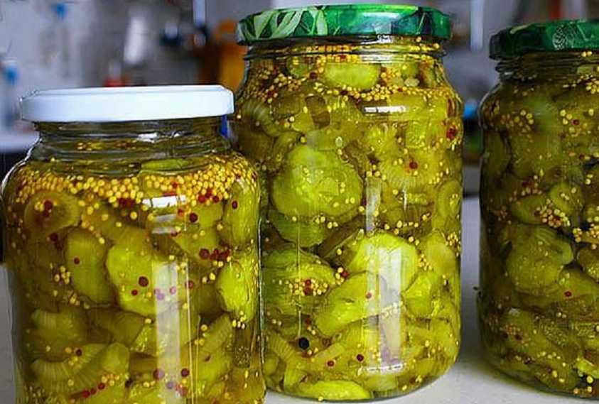 Огурцы с семенами горчицы на зиму: рецепты маринования под железные крышки с фото