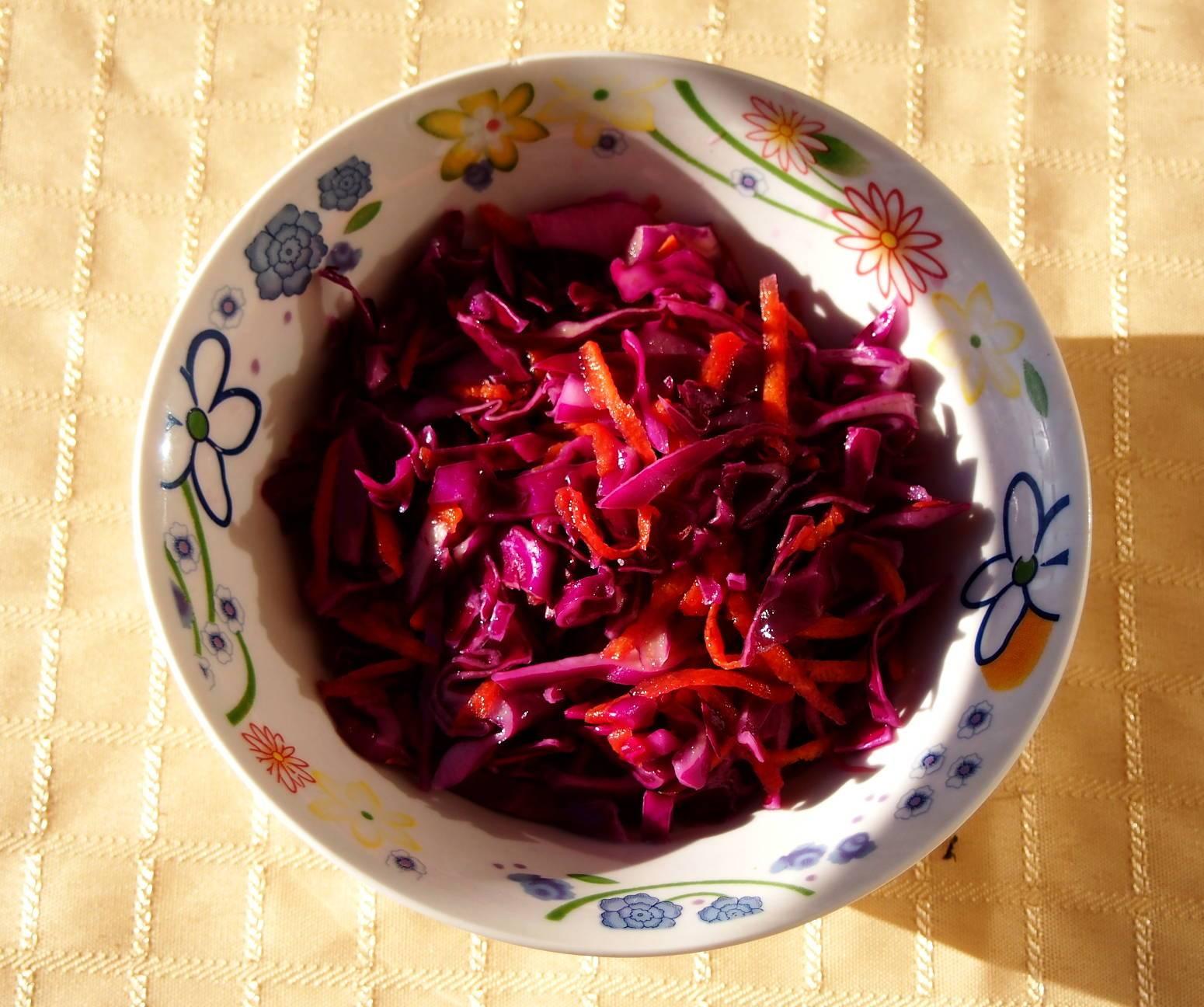 Маринованная красная капуста быстрого приготовления: рецепты с фото