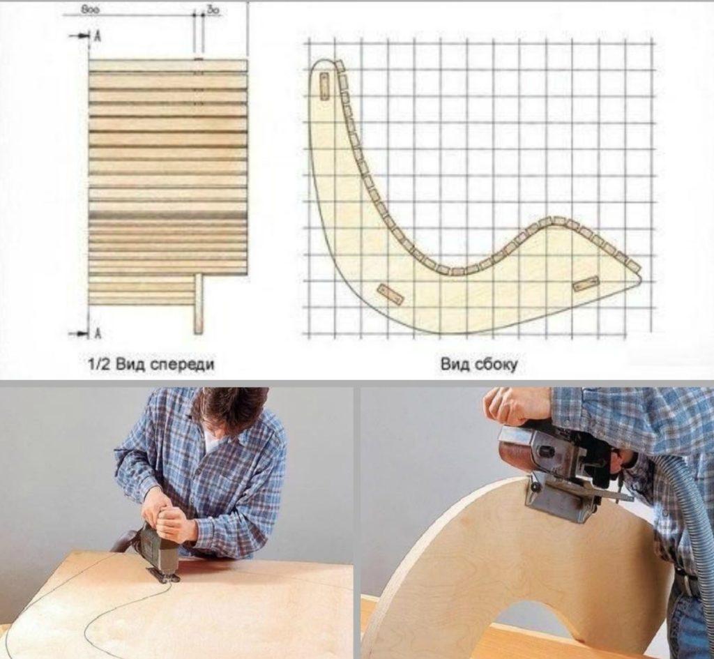 Кресло-качалка из фанеры: выбор материала и подробное описание сборки своими руками