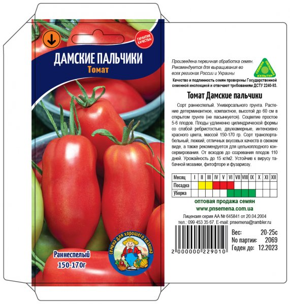 Томат дамские пальчики: описание и характеристика помидор, достоинства и недостатки сорта