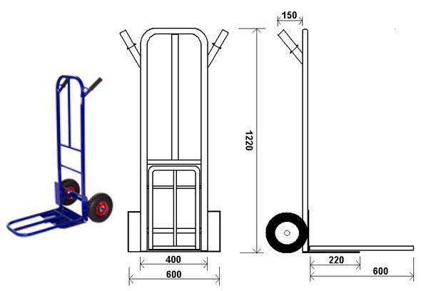 Как сделать 4 колесную тележку - морской флот