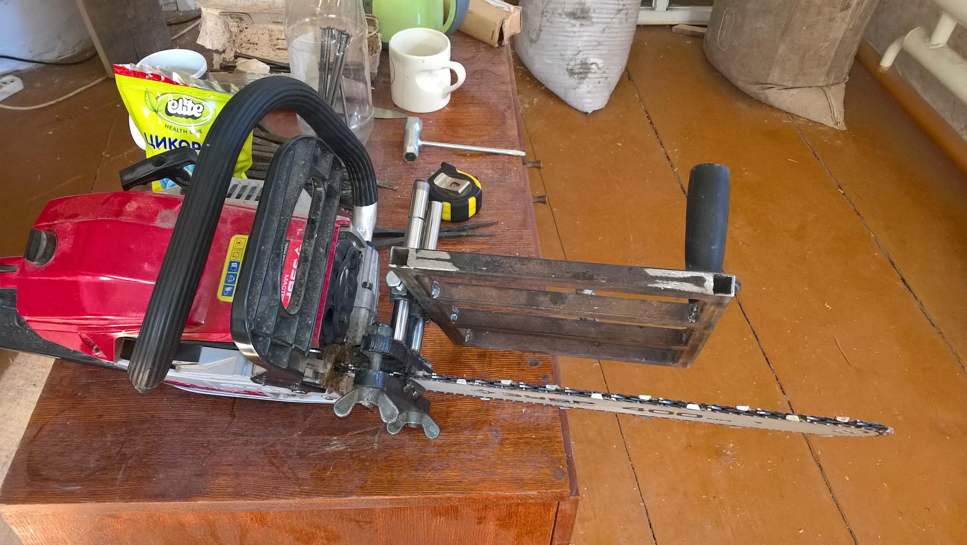 Как сделать пилораму из бензопилы своими руками: способы, материалы, технология