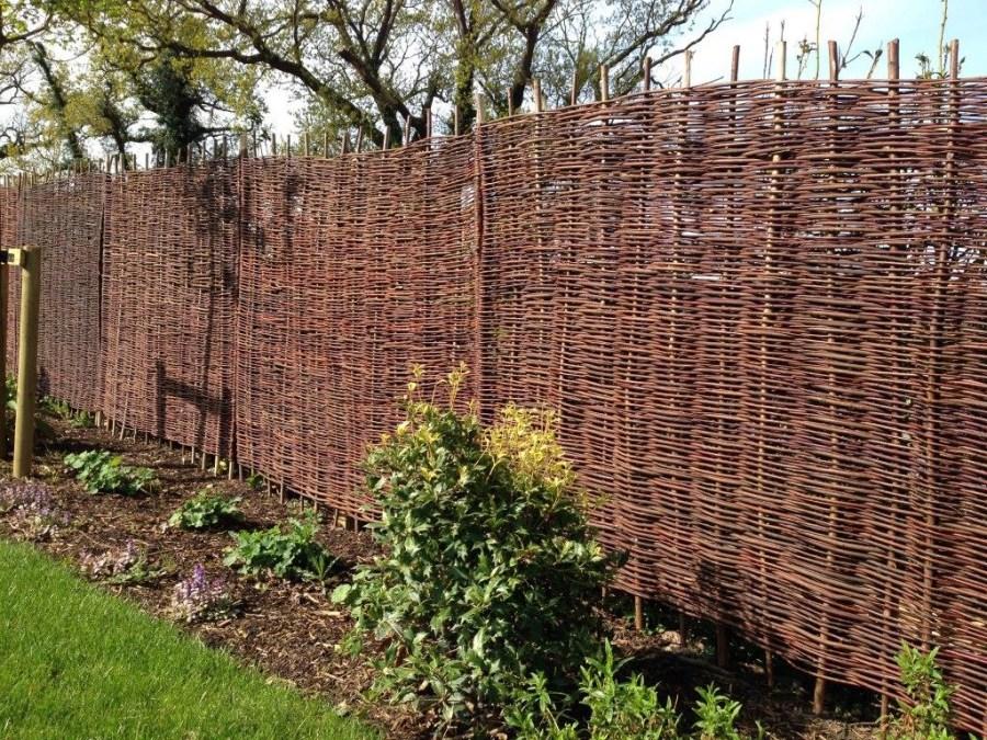 Как сделать плетень на даче своими руками: мастер-класс