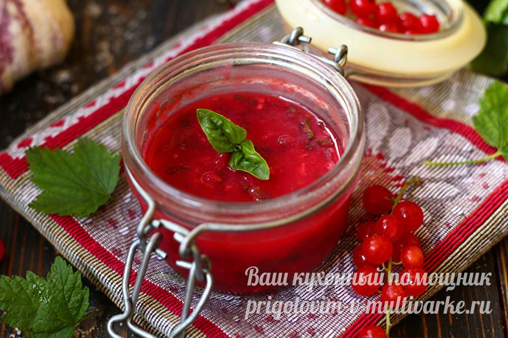 Кетчуп из красной или черной смородины. заготовка соуса на зиму