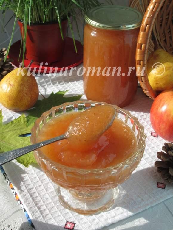 Яблочно-грушевое повидло — пошаговый рецепт с фото