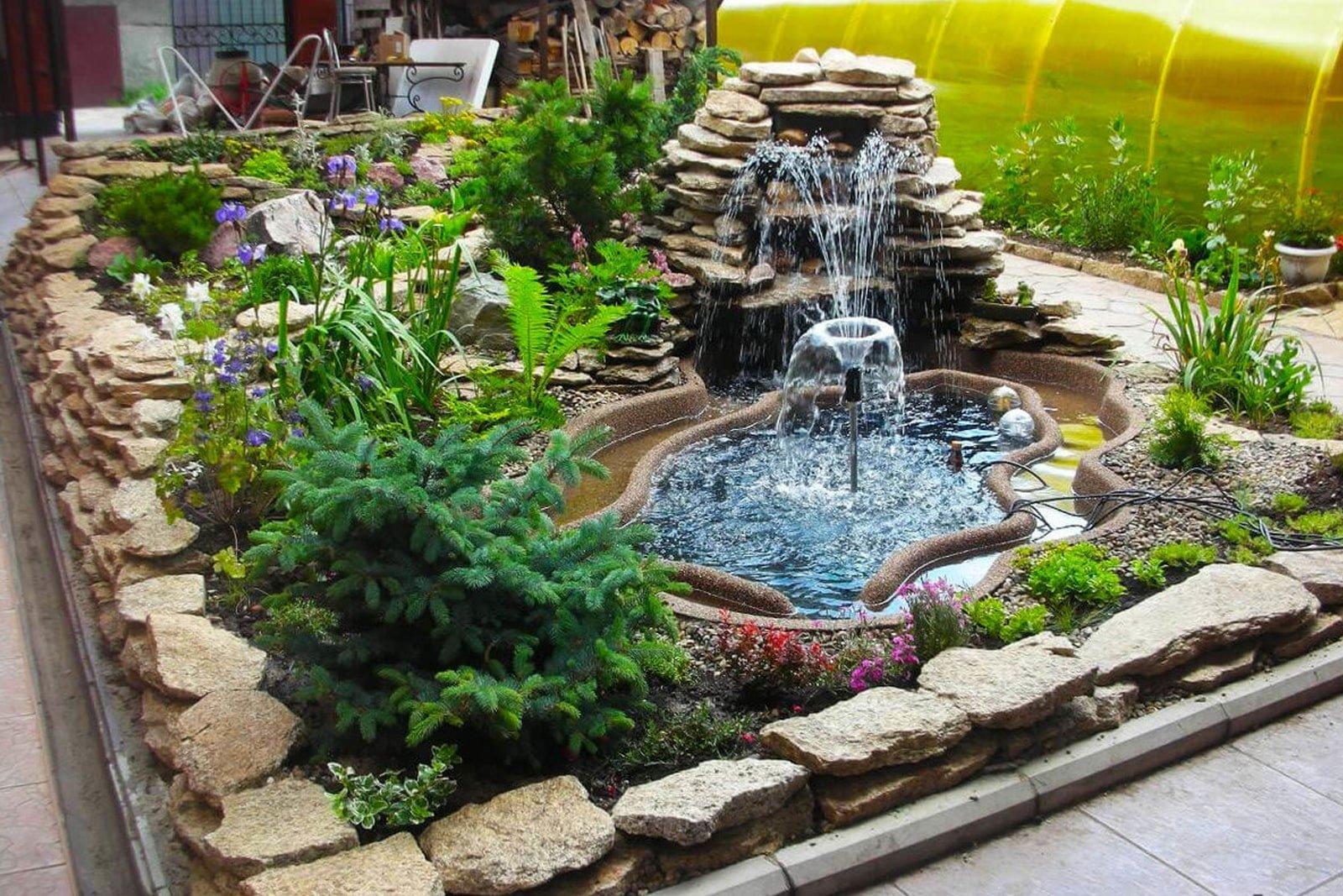 Фонтаны для дачи (58 фото):  как выбрать насос для летнего декоративного изделия, ландшафтный дизайн для садовых участков своими руками