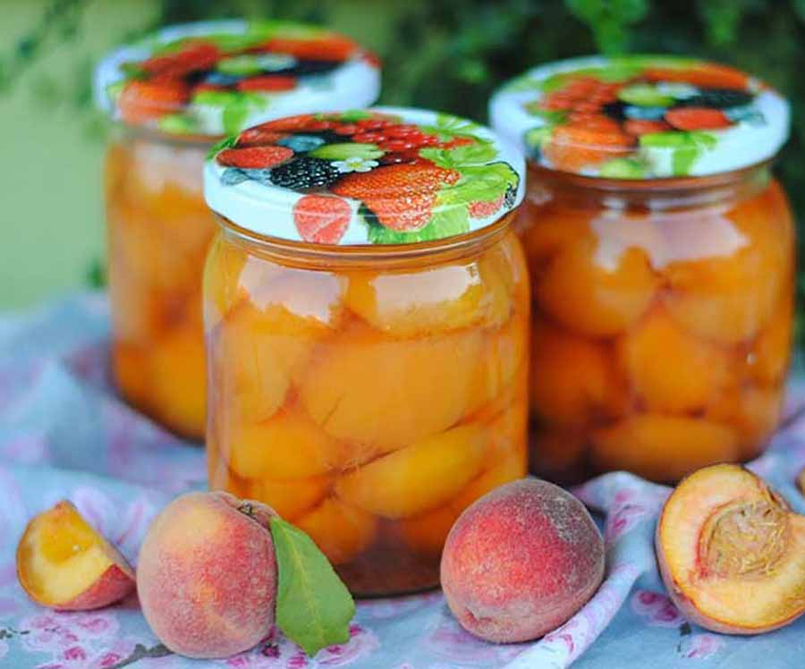 Персики в сиропе на зиму: 7 лучших пошаговых рецептов приготовления консервации