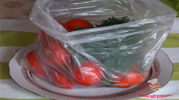 Малосольные помидоры в пакете: быстрый рецепт вкусной закуски. рецепты быстрого приготовления малосольных помидоров в пакете