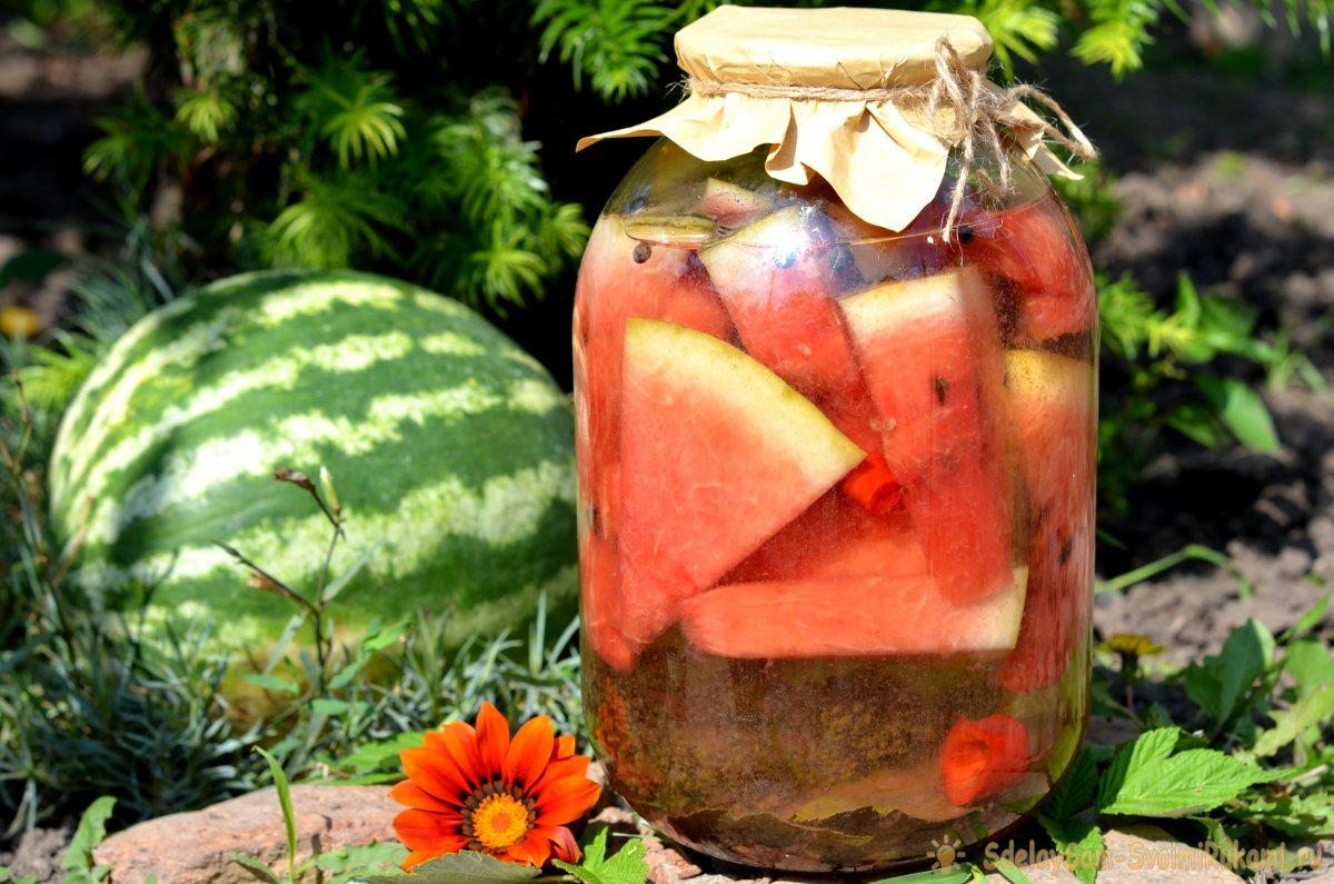 ТОП 5 рецептов компота из арбуза и его корок на зиму в домашних условиях, хранение