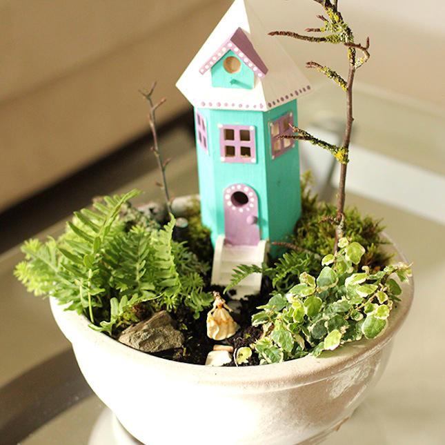 Как сделать мини-сад — мастер-класс как своими руками построить в горшке красивый сад (115 фото)