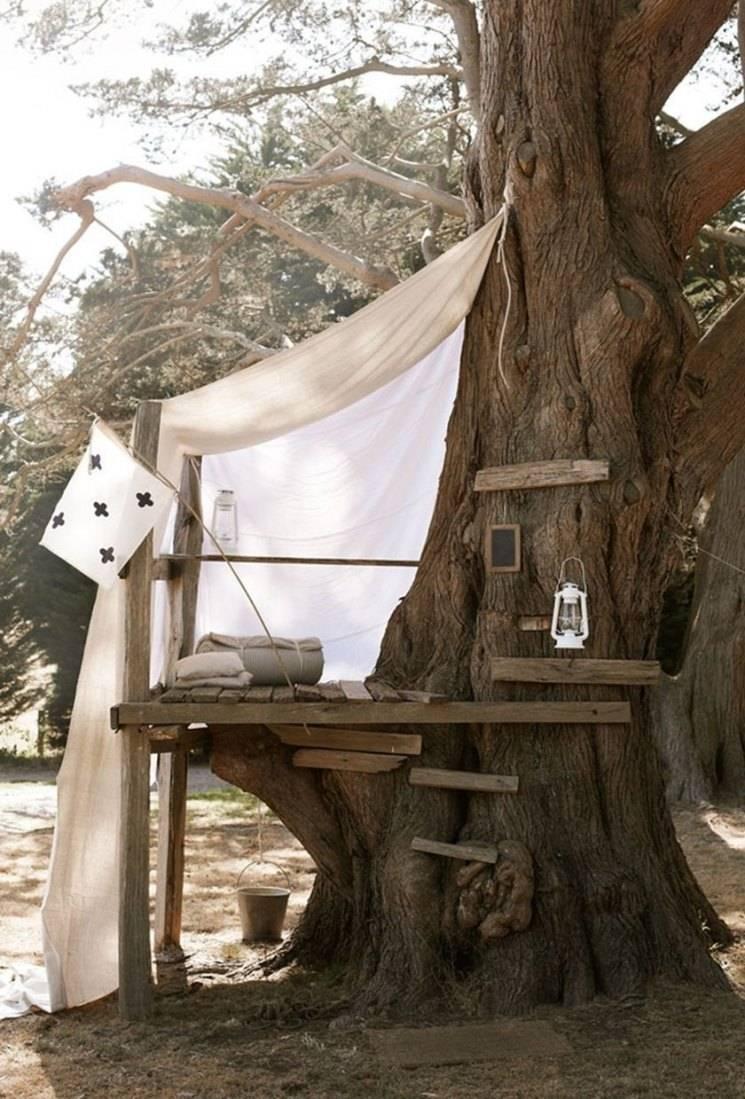 Домик на дереве для детей своими руками - фото примеров