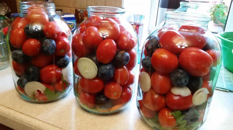 Самые вкусные рецепты консервированных помидоров со сливами на зиму - ваш сад и огород