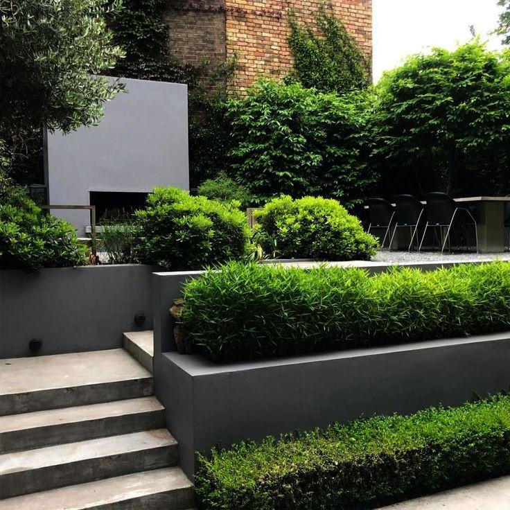 Обустройство сада в стиле минимализм: подходящие материалы