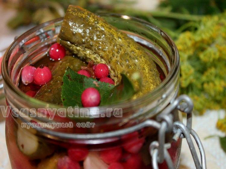 Огурцы с красной смородиной на зиму - рецепты без уксуса, без стерилизации с соком и листьями смородины