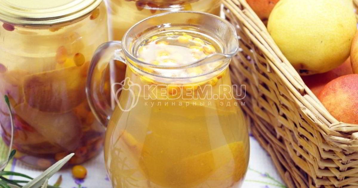 Компот из яблок – 10 рецептов на зиму с облепихой, брусникой, шиповником или грушей